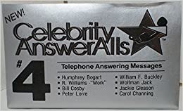 Celebrity answeralls 4 answering machine messages not on cd celebrity answeralls 4 answering machine messages not on cd audiotape cassette celebrity answeralls m4hsunfo Gallery
