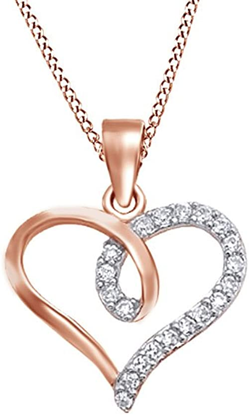 AFFY White Cubic Zirconia Pendant Necklace 14k Gold Over Sterling Silver