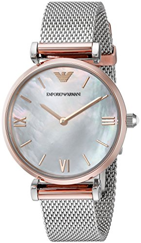 Emporio Armani Women's AR2067 Retro Two Tone Quartz Watch