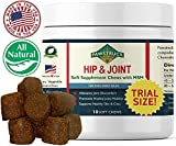 Natural Hip and Joint Supplement for Dogs Soft Chew (TRIAL SIZE - 10 Count) Pain Relief & Prevention, Glucosamine For Dogs Made with Chondroitin & MSM for Healthy Hips & Joints, Made in the USA
