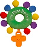 Baby Rosary Rattle My First Rosary Baptism Gift Plush Ordinary TIME Green