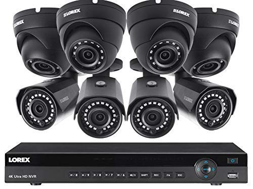 Lorex 16 Channel 4K NVR 8 IP Cameras Security System NR9163X 3TB, 4 4MP Dome and 4MP IP Bullet...