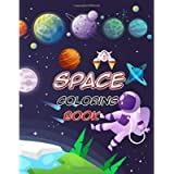 Space Coloring Book: Outer Space Coloring with Planets, Astronauts, Space Ships, Rockets and More, Astronomy Coloring…