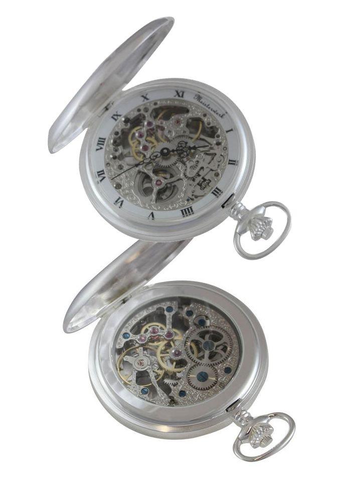 Personalized Meisterwerk Sterling Silver Pocket Watch M1877 by Meisterwerk