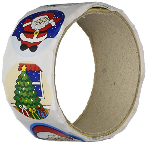 Fun Express 200 Holiday Roll Stickers/Santa/Penguin/Snowman/Christmas Tree (Oriental Tree Trading Christmas)