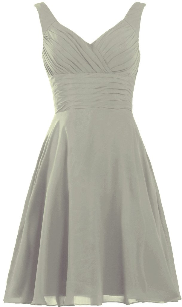 8f6bb32a663 Galleon - ANTS Women s Pleated Sweetheart Bridesmaid Dresses A Line  Cocktail Gown Size 4 US Silver