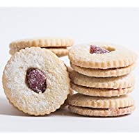 Delicious Home-style Linzer Tart Cookies, Perfect for - Christmas, Valentines Day, Mothers Day, Fathers Day, or any Holiday - Gift - Kosher - 8 oz