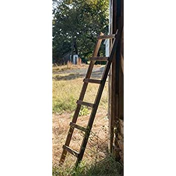 Decorative Farmhouse Style Wooden Display Ladder