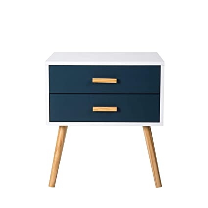 Merveilleux Peach Tree Side End Table Nightstand Bedroom Living Room Table Cabinet With  2 Drawers Storage,