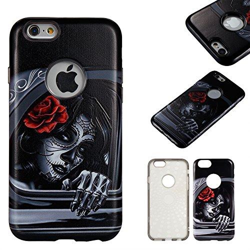 """Hülle iPhone 6 / 6s , LH Windows Mädchen Combo TPU Weich Muschel Tasche Schutzhülle Silikon Handyhülle Schale Cover Case Gehäuse für Apple iPhone 6 / 6s 4.7"""""""