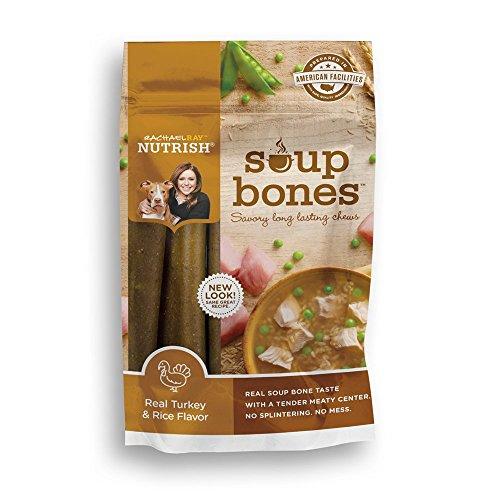 Rachael Ray Nutrish Soup Bones Dog Treats, Real Turkey & Ric