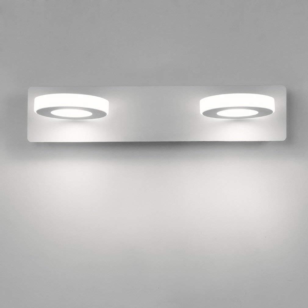 JZMB Moderne Wandleuchte 6W LED weiße Eisen-Metallwand-Beleuchtung Wohnzimmer-Esszimmer-Badezimmer-Hallen-Studien-Wandlampe elegantes Design-dekorative Innenbeleuchtung W32cm  H7cm warmes Licht 3000K