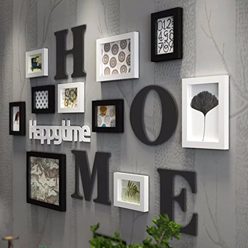 YZXK Modern Picture Frame Creative Solid Wood Photo Wall Living Room Multi-photo Frame Portfolio Photo Wall by YZXK