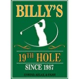 Personalized Metal Bar Man Cave Wall Sign with Man Cave 19th Hole Golf Sign perfect gift for Bestman, Groomsmen gift Him