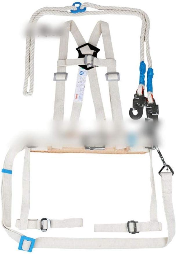 Nekovan 全身ハーネスダブルバックシルク絶縁安全ベルト電気技師ロッククライミング屋外の空中作業 (色 : ホワイト) ホワイト