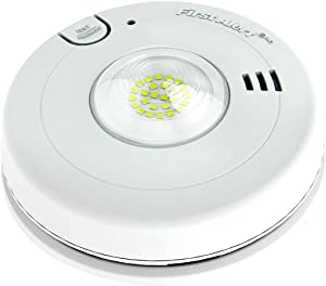 First Alert BRK 7020BSL Hardwired Hearing Impaired Smoke Detector with LED Strobe Light