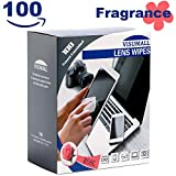 VISUMALL 100 Lens Wipes - Pre-Moistened Cleaning Wipes Portable Travel Cleaner with Light Fragrance Nonirritating (Rose)