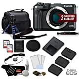 Canon EOS M6 Mirrorless Digital Camera (Body Only, Black) 1724C001- Deluxe Bundle - International Version (No Warranty)