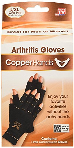 Arthritis Compression Gloves by Copper Hands As Seen On TV