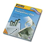 Plain Paper Copier Transparency Film, Letter, Clear, 100/Box
