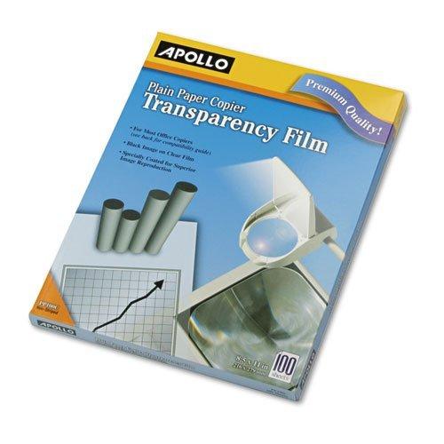 (Plain Paper Copier Transparency Film, Letter, Clear, 100/Box)