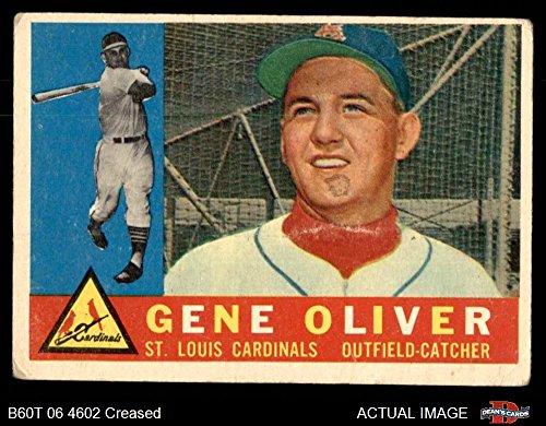 1960 Topps # 307 Gene Oliver St. Louis Cardinals (Baseball Card) Dean's Cards 3 - VG - Online St Shop Oliver