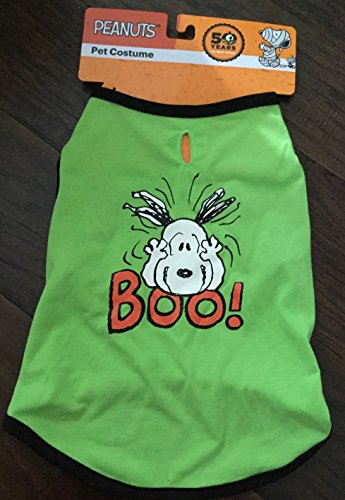 Green Peanuts Snoopy Charlie Brown T-shirt Costume (Peanuts Dog Costume)
