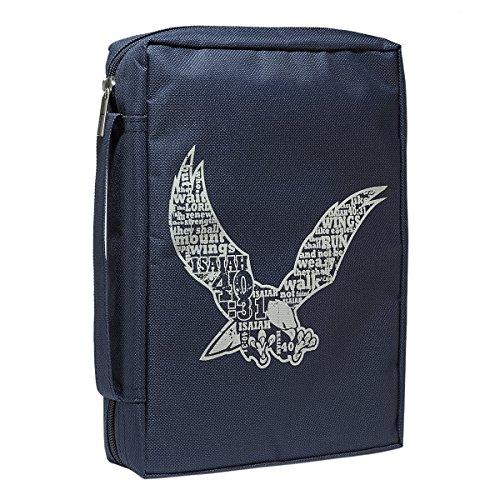 Blue Poly-Canvas Isaiah 40:31 Eagle Bible / Book Cover (Medium) - Eagle Bible Cover