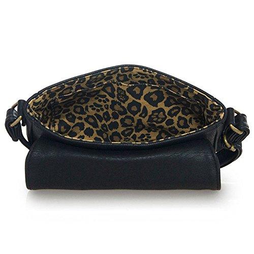 Crossbody Embroidered Vegan Cat Leather Loungefly Bag qaIHAax