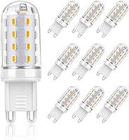 G9 LED Lampe, SHINE HAI 9er-Pack G9 Leuchtmittel Birne, 4W G9 LED ersetzt 30W Halopin, Warmweiß 3000K, 400lm, AC 220-240, 360º Abstrahlwinkel, Farbwiedergabeindex: 80 Ra