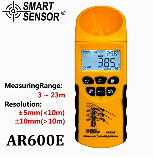 Ultrasonic Cable Height Meter 6 Cables Measurement LCD display Measuring Range(Height 3-23m,Plane 3-15m) AR600E