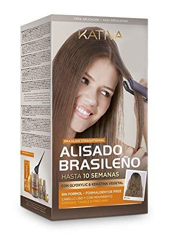 Kativa Brazilian Straightening with Glyoxylic & Vegetable Keratin - Formaldehyde Free