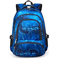 BLUEFAIRY Kids Backpacks for Boys Elementary School Bags Kindergarten Bookbags Lightweight Durable (Stars,Blue)