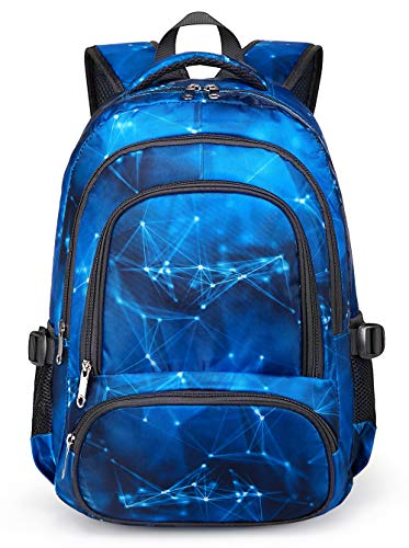 BLUEFAIRY Kids Backpacks for Boys Elementary School Bags Middle School Bookbags Lightweight Durable (Stars,Blue)