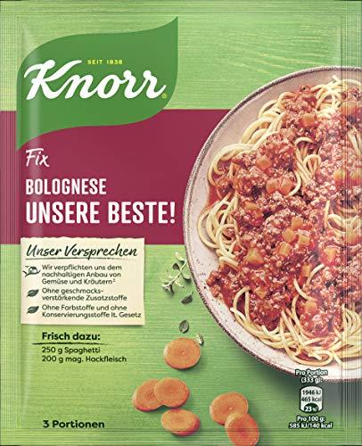 Knorr Fix Würzbasis Unsere Beste! Spaghetti Bolognese (ohne geschmacksverstärkende Zusatzstoffe) 3 Portionen