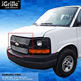 express grill - eGrille Stainless Steel Billet Grille Grill Fits 03-14 Chevy Express Van