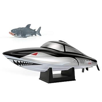 Amazon.com: Funtech Shark RC - Barco: Toys & Games