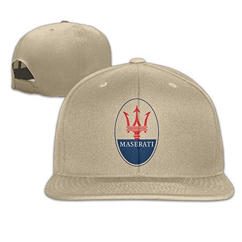 MaNeg Maserati Logo Unisex Fashion Cool Adjustable Snapback Baseball Cap Hat One Size Natural