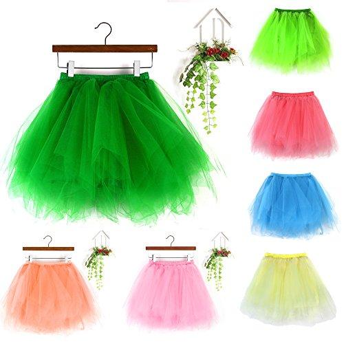 Mini Jupe Plisse Jupe Femme Gaze Jupe Elastique Vert Tutu Taille Danse Tulle Jupe Adulte Jupe Sunenjoy Courte Classique Femme AwItPqOq