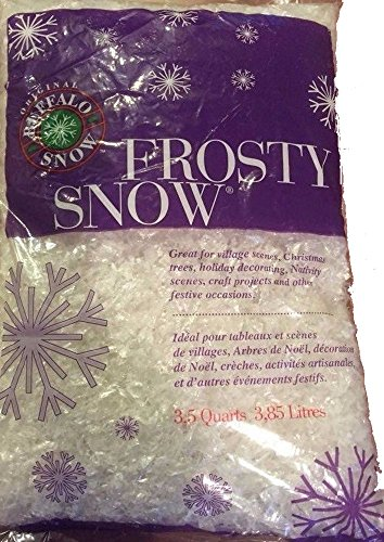 Frosty Snow Flakes Artificial Fake Snow for Crafts 3.5 Quart