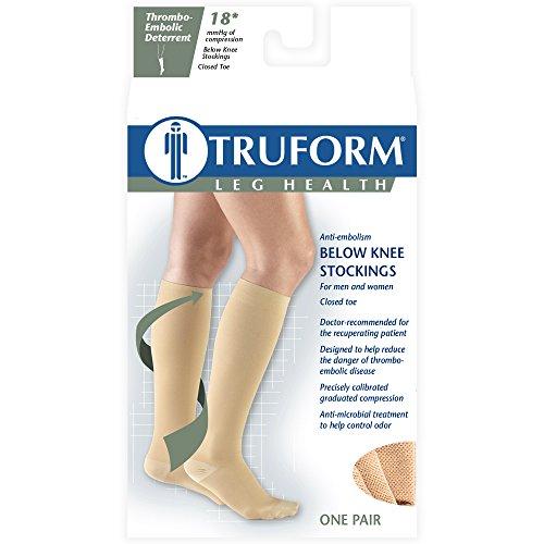 UPC 048503880873, Truform 8808, Anti-Embolism Stockings, Knee High, Closed Toe, 18 mmHg Compression, Beige, 2X-Large (Pack of 2)