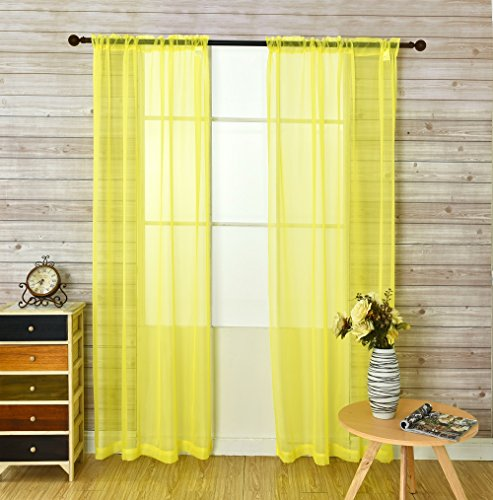 2 panel yellow curtains - 4