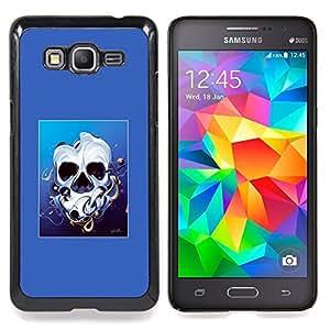 - Melted Skull Face - - Cubierta del caso de impacto con el patr??n Art Designs FOR Samsung Galaxy Grand Prime G530H G5308 Queen Pattern