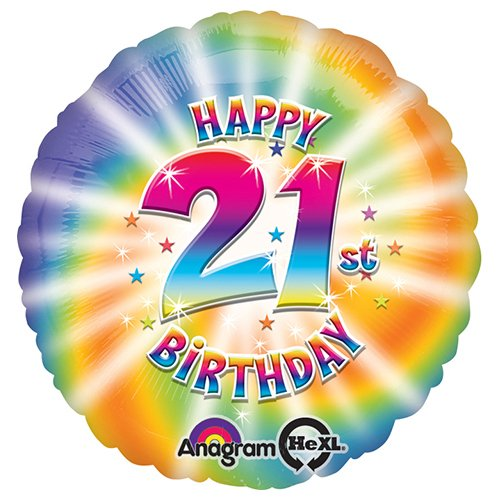 Anagram 25909 Happy 21St Birthday Foil Balloon 18 Multicolored