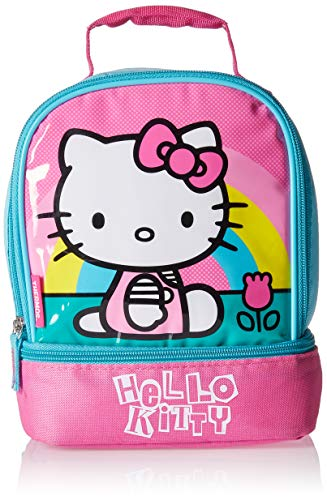 Hello Kitty Pail (Thermos Kids Lunch Bag Insulated Lunch Bag For Kids School Hello Kitty Dual Compartment Lunch)