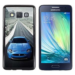 A-type Arte & diseño plástico duro Fundas Cover Cubre Hard Case Cover para Samsung Galaxy A3 (Azul Jag Xkr Sexy Car)