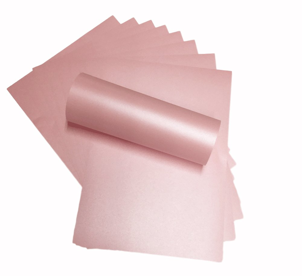 10 x A4 Petals Pink Pearlescent Shimmer Paper Double Sided 120gsm Suitable for Inkjet and Laser Printers