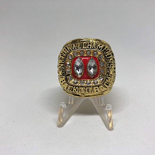 Nebraska Cornhuskers Collectibles - Lawrence Phillips Nebraska Cornhuskers High Quality Replica 1995 Fiesta Bowl & Big 8 Championship Ring Size 10-Gold US SHIPPING