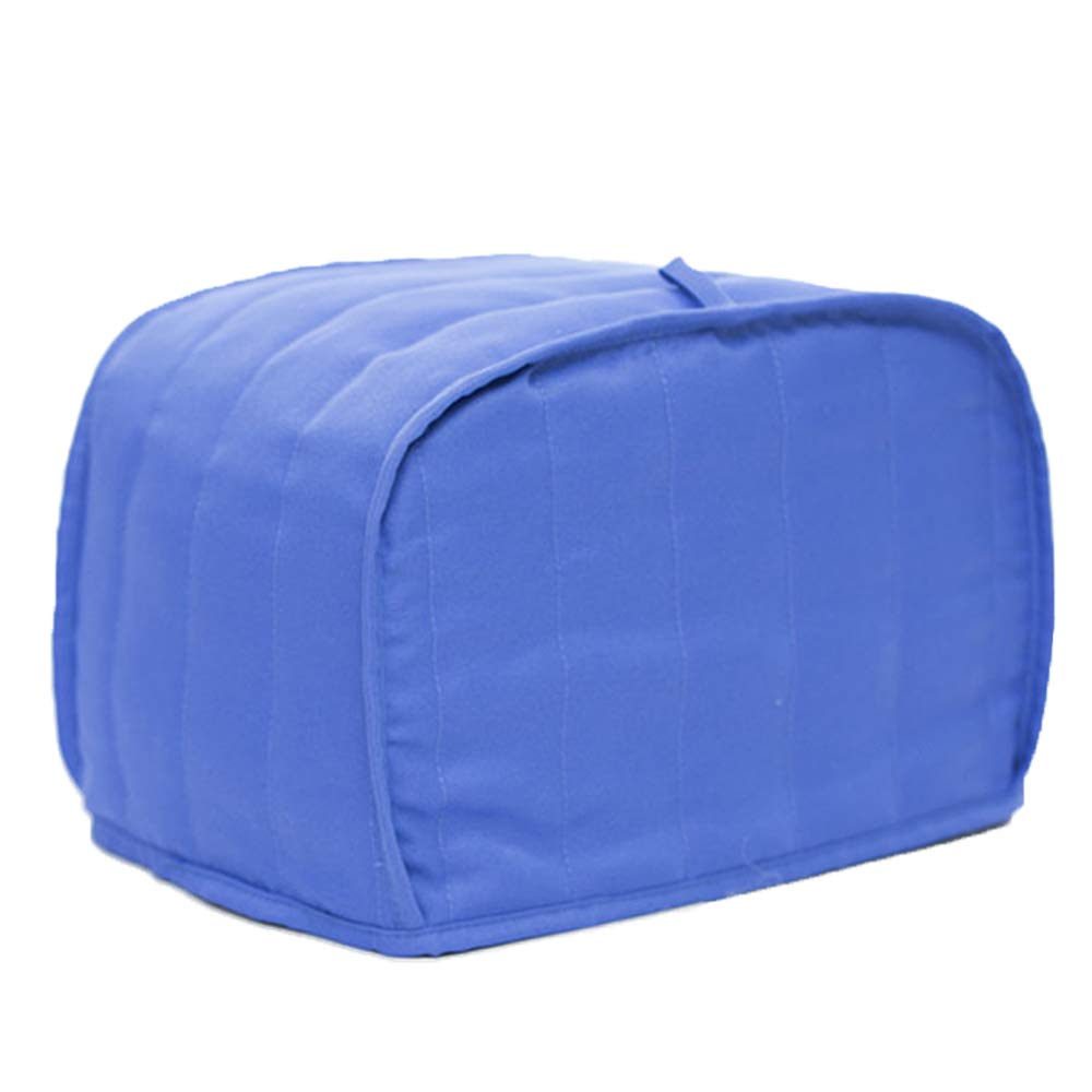 Cotton Quilted Dust-proof Toaster Cover Anti Fingerprint Protection For Standard Four Slice Toaster Machine Washable HRJJ12-A L Blue