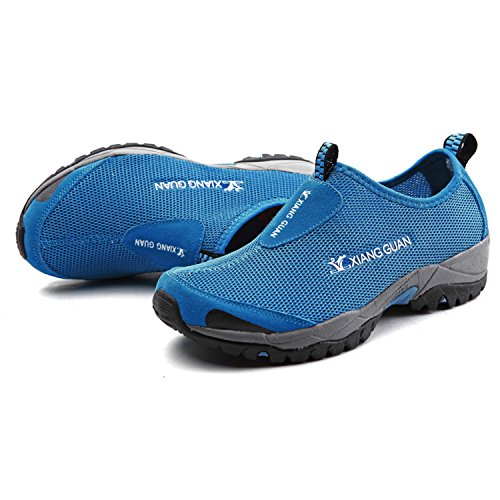 Xiang Plein D'eau Sangle 3409 Marcher Air Lger Slip Chaussures Sport Baskets Bleu Femmes on En Respirant Guan Hommes Casual Et rXx7rB
